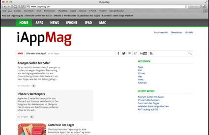 iAppMag Extension