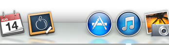 Mac Dock with Space