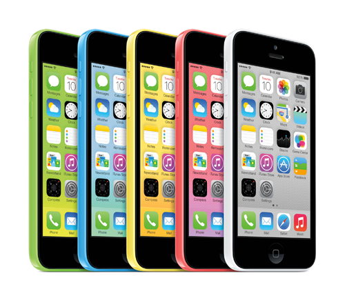 iPhone 5C in 5 Farben
